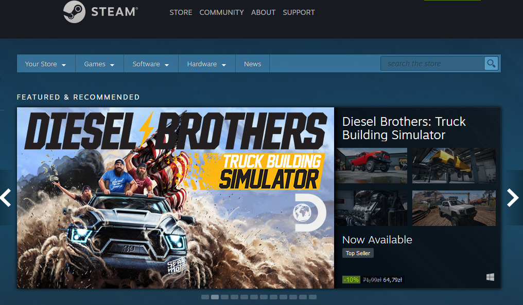 PlayWay - Diesel Brothers: Truck Build Simulator - on Steam